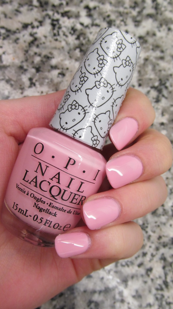 opi helly kitty, opi hello kitty collection, hello kitty nail polish, opi hello kitty review, opi hello kitty swatches, hello kitty swatches, opi small + cute = <3, opi small + cute, OPI small + cute swatch