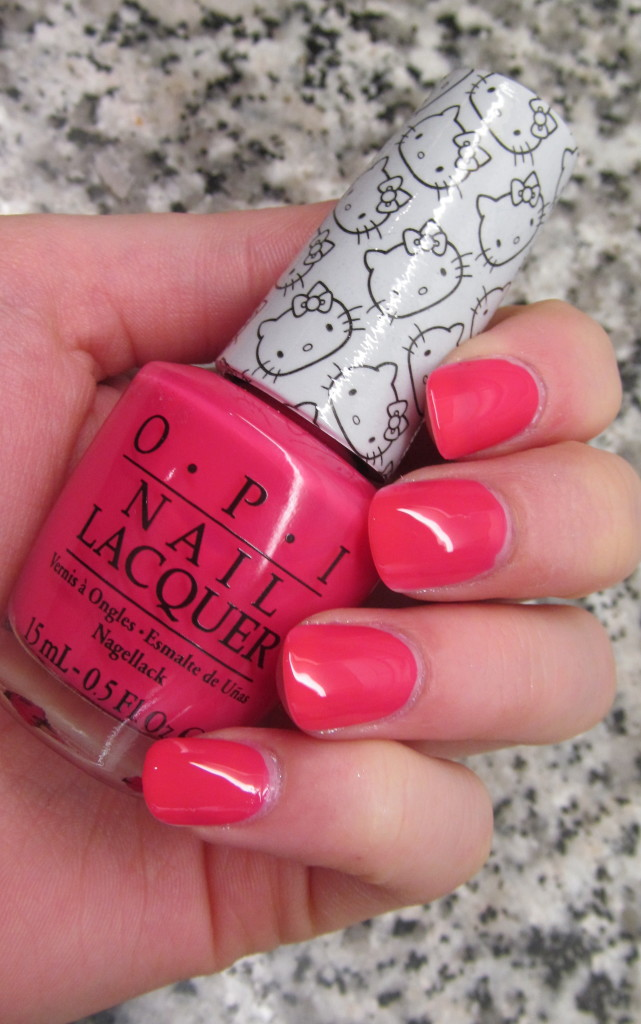opi helly kitty, opi hello kitty collection, hello kitty nail polish, opi hello kitty review, opi hello kitty swatches, hello kitty swatches, opi spoken from the heart, opi spoken from the heart swatch, opi coral, coral nail polish, new nail polish 2016