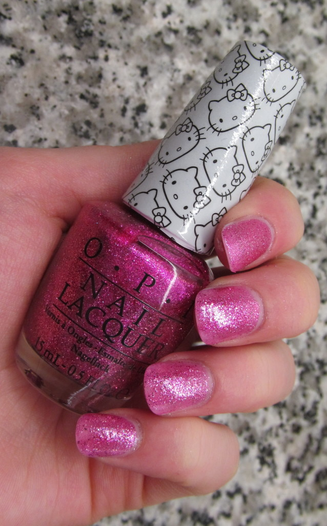 opi helly kitty, opi hello kitty collection, hello kitty nail polish, opi hello kitty review, opi hello kitty swatches, hello kitty swatches, opi starry-eyed for dear daniel, opi starry-eyed for dear daniel swatches, starry-eyed for dear daniel, pink glitter nail polish