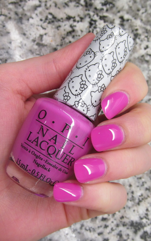 opi helly kitty, opi hello kitty collection, hello kitty nail polish, opi hello kitty review, opi hello kitty swatches, hello kitty swatches, opi super cute in pink, opi super cute in pink swatch