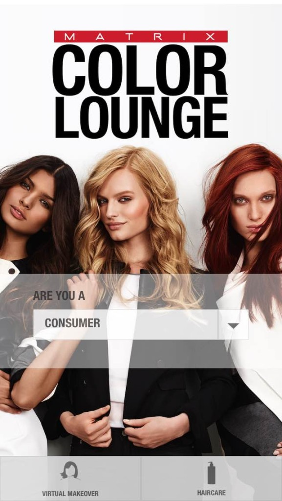 matrix color lounge, matrix color lounge app, app to try on hair color, see what hair color looks like, what hair color should i try, matrix hair color, hair color trial