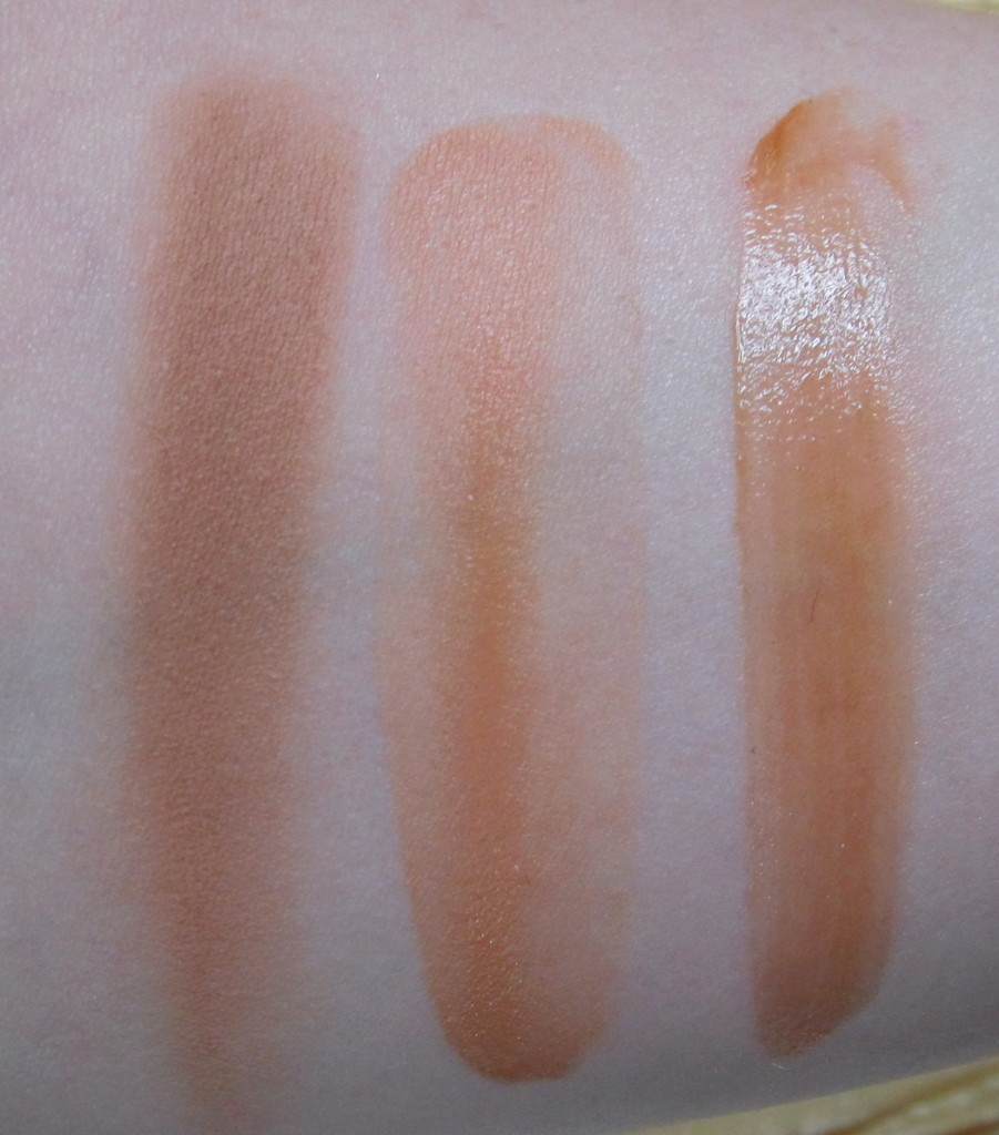 HOOLA Matte Bonzing Powder on left, Dew the HOOLA in centre, HOOLA Zero Tanlines on right