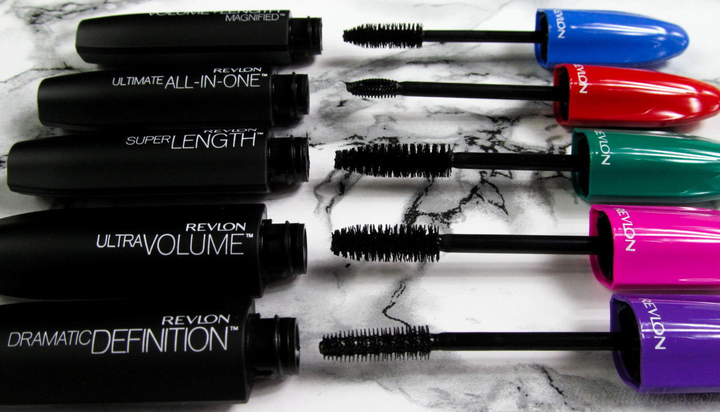 revlon mascara, revlon mascara portfolio, revlon all-in-one mascara, revlon super length mascara, revlon ultra volume mascara, revlon volume + length mascara, revlon dramatic definition mascara, best drugstore mascara, lengthening mascara, how do i make my lashes look longer, how do i make my lashes look fuller, revlon mascara review, revlon mascara swatches