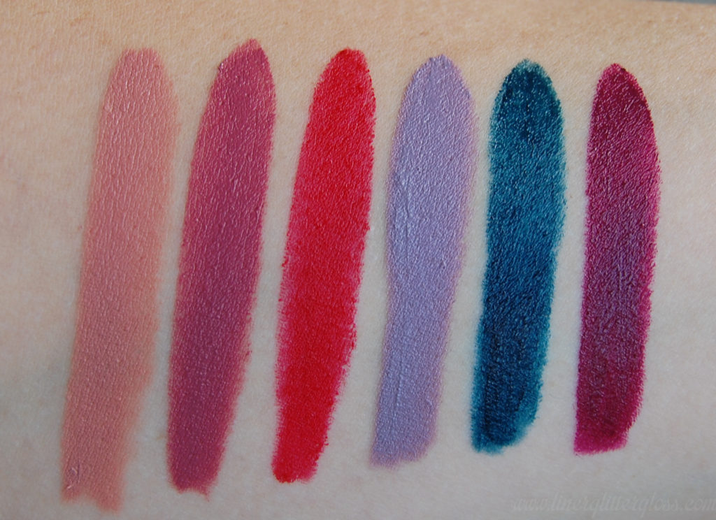 make up for ever lipstick, make up for ever artist rouge, artist rouge, artist rouge swatches, lipstick, lipstick swatches, blue lipstick, lavender lipstick, makeup up for ever c105, make up for ever c211, make up for ever m401, make up for ever c502, make up for ever c603, make up for ever c506