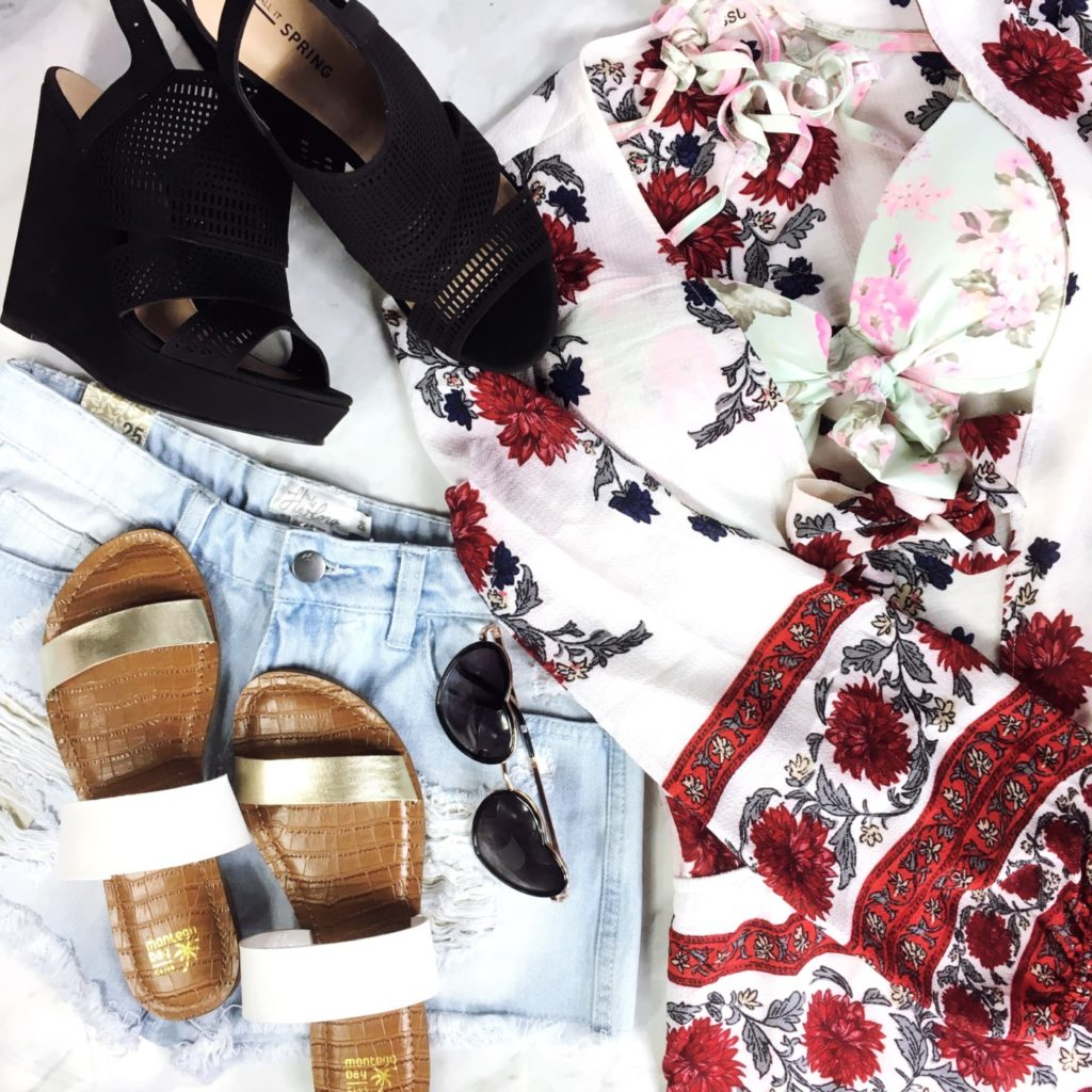spring break essentials, spring break clothes, what to pack for spring break, what to pack for beach vacation, dixie outlet mall deals, dixie outlet mall stores, call it spring wedges, long sleeve romper, winners fab finds, clothes for the beach, what should i bring on spring break, #dixiedeals