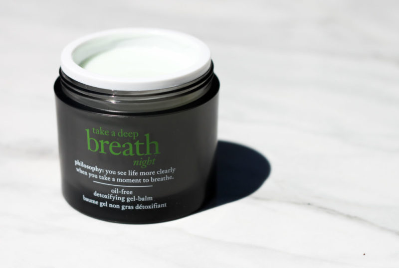 philosophy take a deep breath, philosophy take a deep breath night, take a deep breath night review, night moisture mask, night skin mask, oil free moisturizer, detoxifying skincare, how to detox skin, what to do when your skin goes crazy, easy skincare solutions, new skincare 2017, philosophy skincare review, best philosophy products, best products for oily skin
