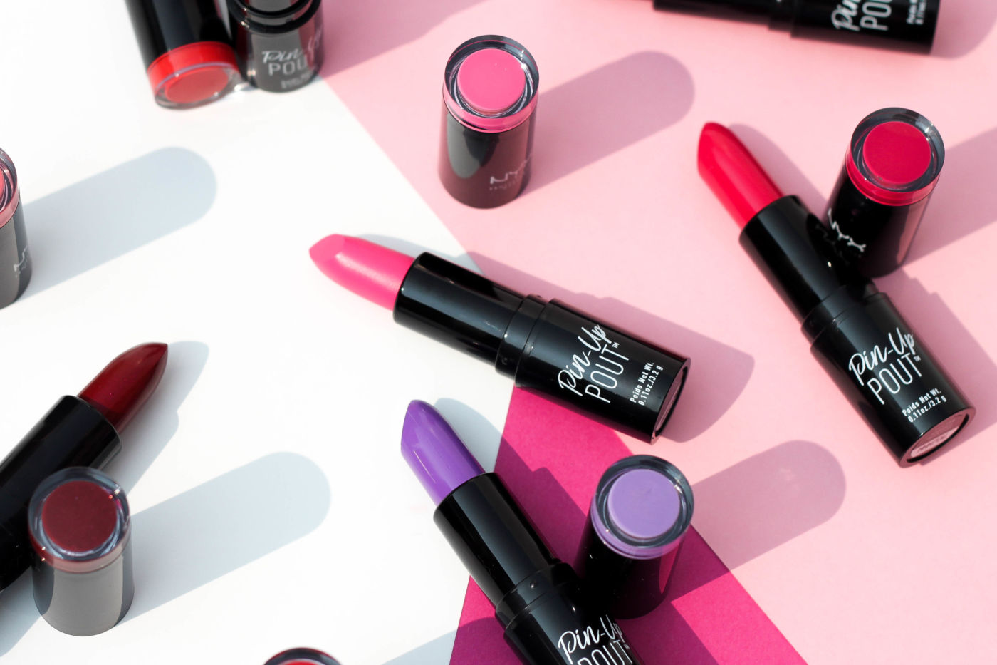 NYX Pin-Up Pout Lipstick Swatches + Review