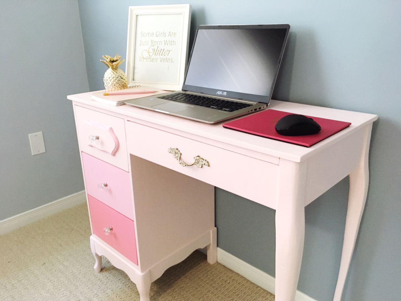 How to Paint an Old Desk with Premier Paint