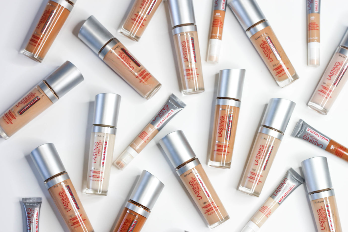 Rimmel Lasting Finish Breathable Foundation Collection | Review + Swatches