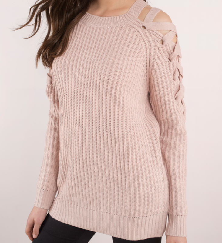 pearl beaded sweater, cute sweaters, cute sweaters winter 2018, best sweaters to buy now, spring sweaters, pearl sweater, bell sleeve sweater, cute pink sweater, tie front sweater, romwe blogger, romwe fashion, romwe style