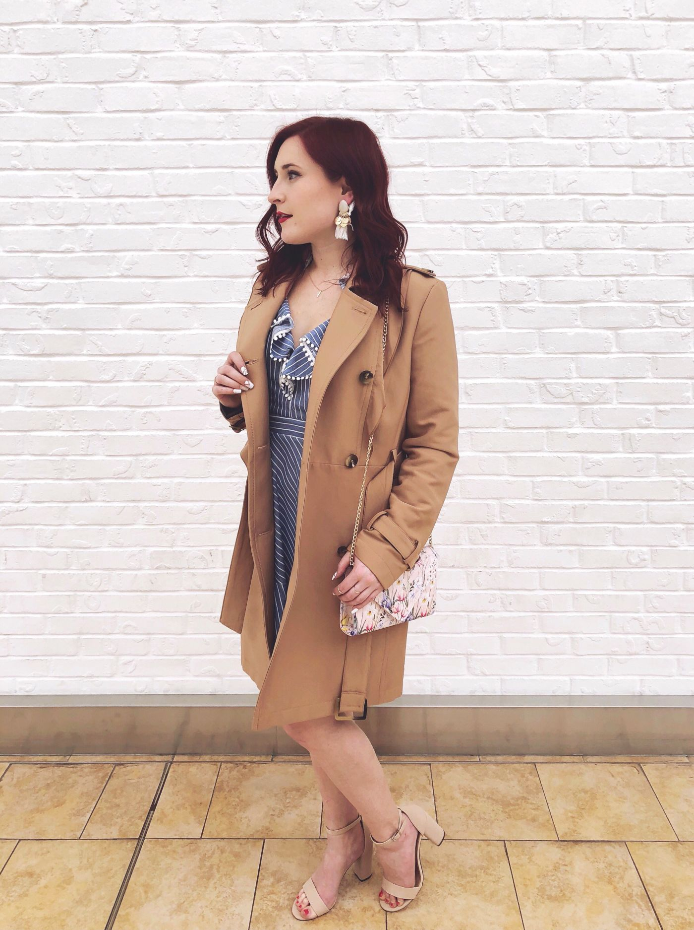 spring style, spring outfit, perfect spring outfit, bramalea city centre, bramalea city centre style pop, bcc style, bcc, toronto mall, toronto shopping, h&m, harlequin collection, call it spring, aldo, rw&co trench coat, forever 21, nike sneakers, famous footwear