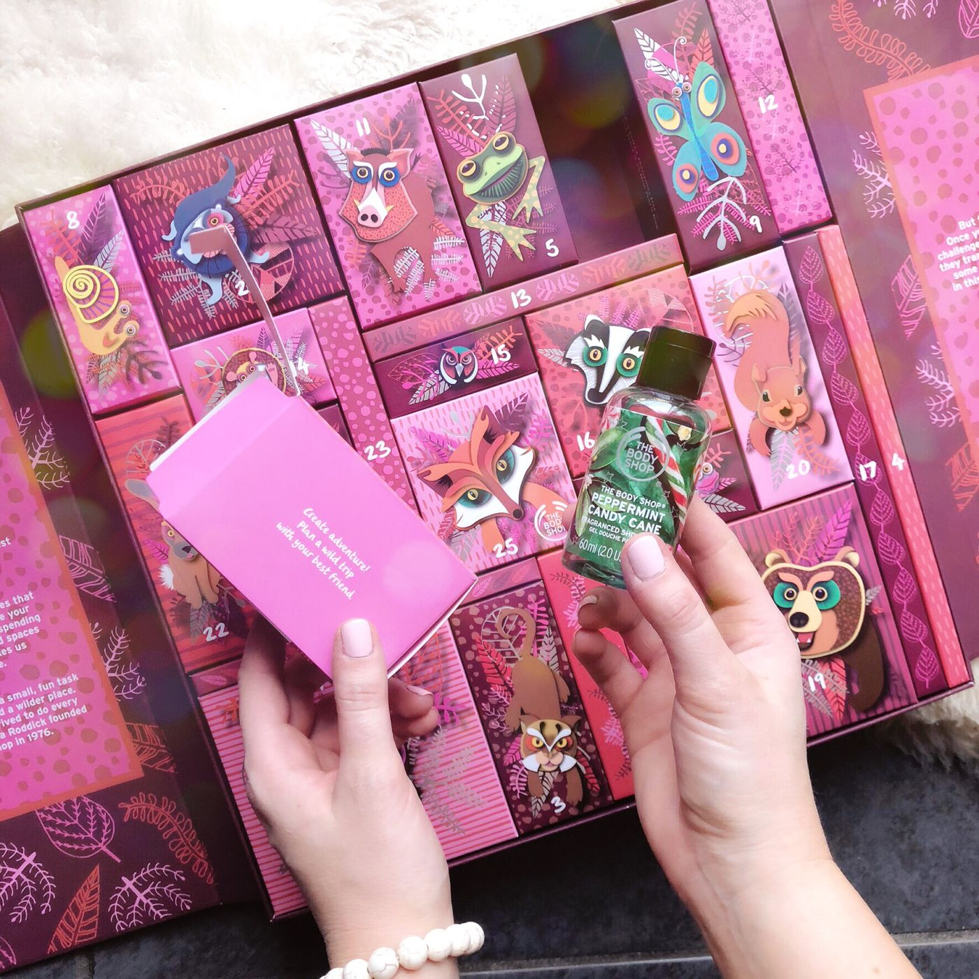 the body shop advent calendar, the bosy shop deluxe advent calendar, the body shop 25 days of the enchanted deluxe advent calendar, 2018 beauty advent calendars, best beauty advent calendars, the body shop holiday gift