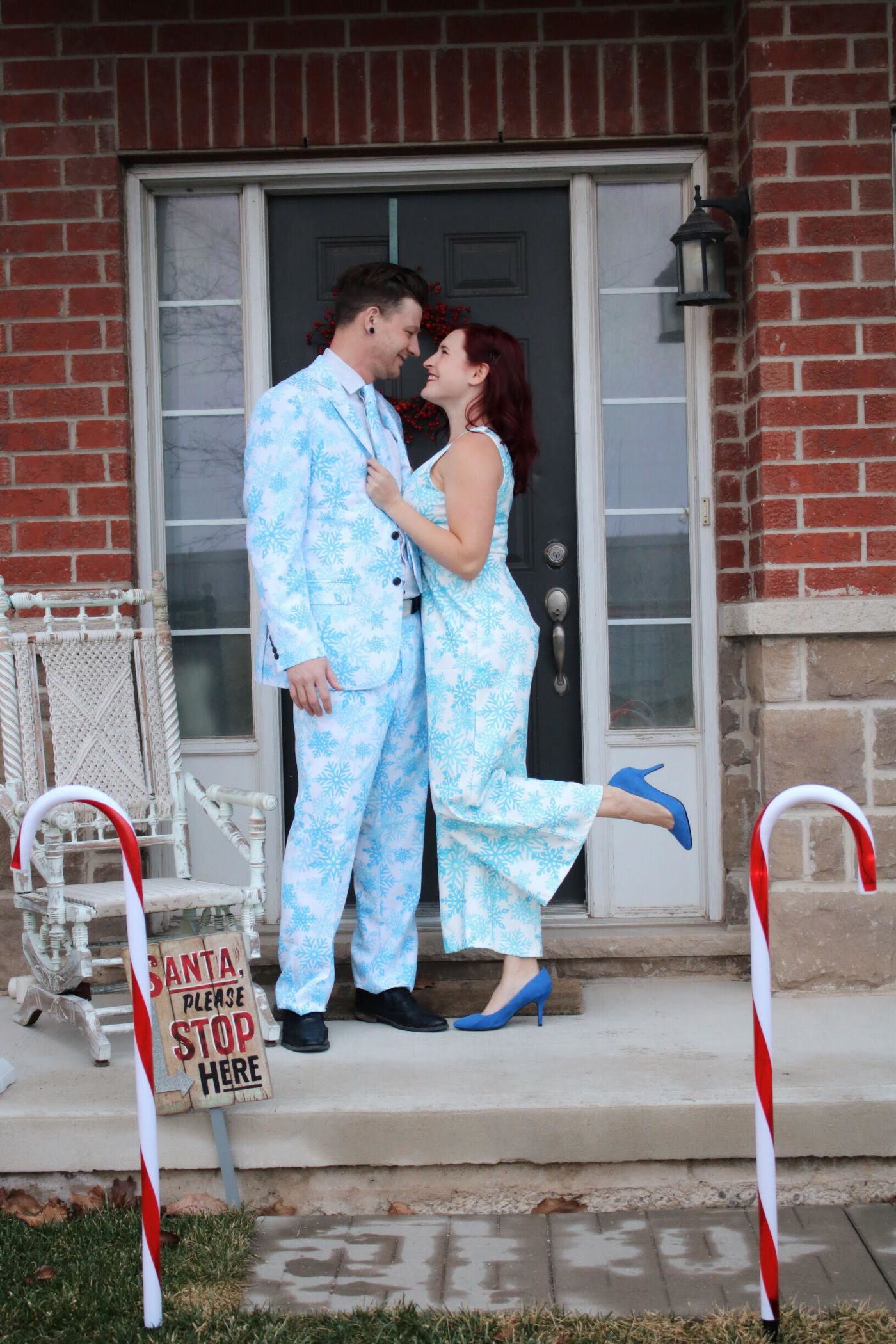 perfect matching christmas outfit, christmas suit, christmas jumpsuit, shinesty, shinesty review, couples christmas outfit, family christmas outfit, funny outfits for the holidays
