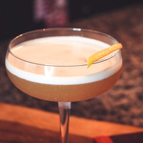 cinnamon whiskey sour
