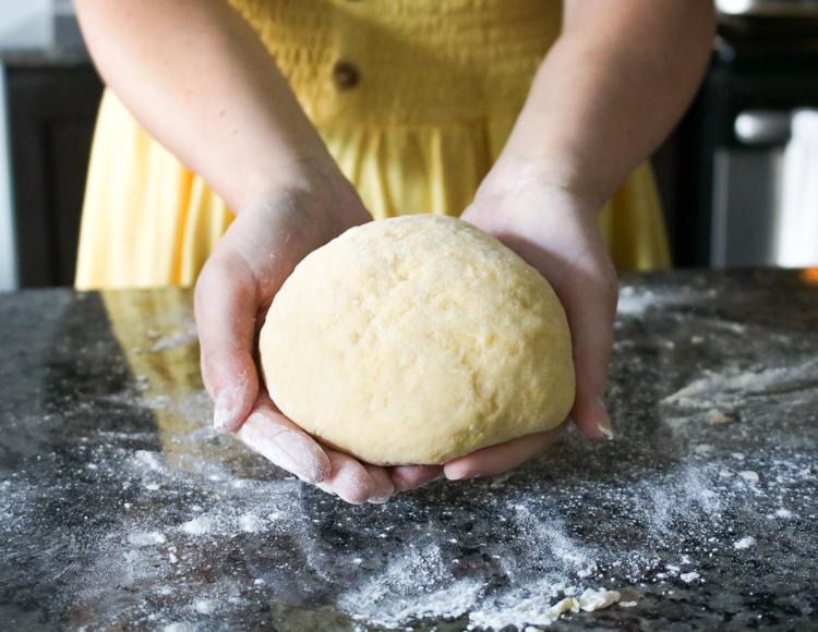 a ball of pasta dough