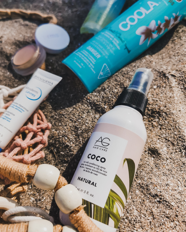 beach beauty essentials form beautysense.ca with AG Hair