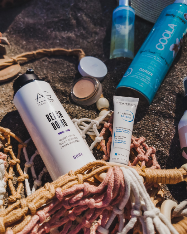 beach beauty essentials featuring st tropez, coola, bioderma, AG Hair and RMS beauty