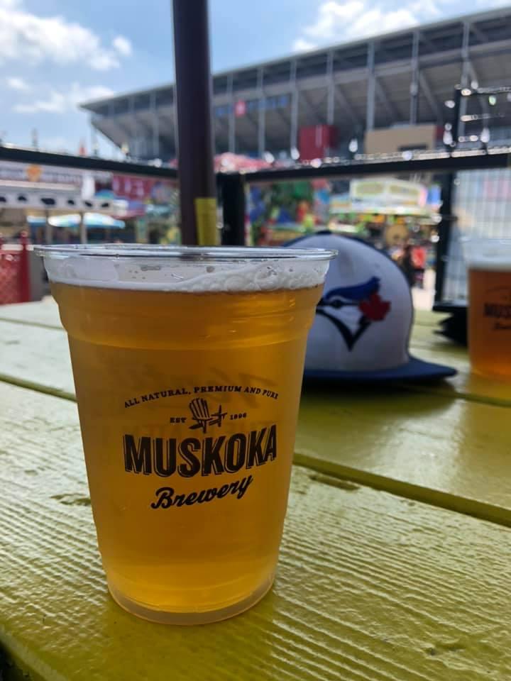 muskoka brewery beer at the cne beach bar