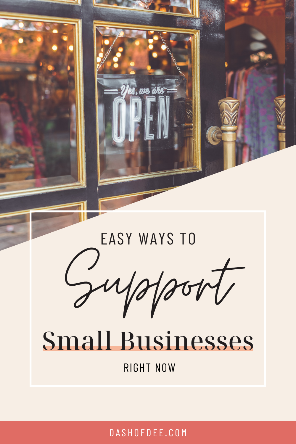 easy ways to support small businesses right now